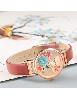 Γυναικείο ρολόι με μπορντό λουράκι