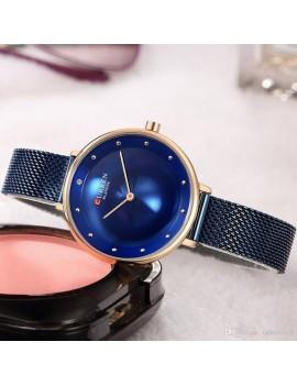 Γυναικείο ρολόι με μπλέ μπρασελέ