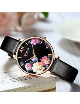 Γυναικείο ρολόι με μαύρο λουράκι