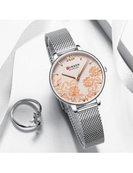 Γυναικείο ρολόι με ασημί μπρασελέ