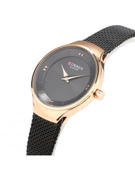 Γυναικείο ρολόι με μαύρο μπρασελέ