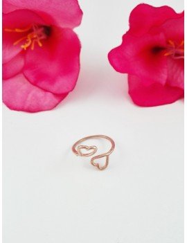 Δαχτυλίδι με αντικριστές καρδιές
