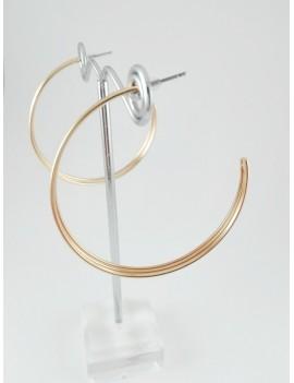 Σκουλαρίκι κρίκος τριπλός σε χρυσό χρώμα