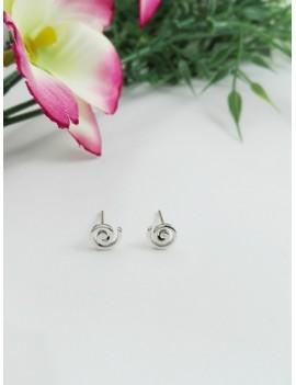 Ασημένια  σκουλαρίκια δίνη