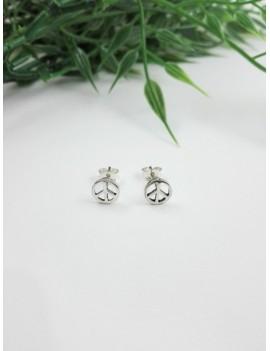 Ασημένια σκουλαρίκια σήμα της Ειρήνης
